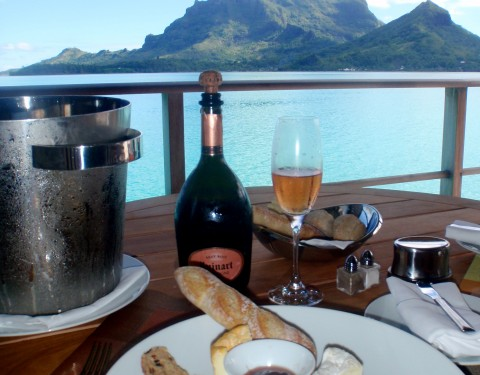 Bora Bora Otemanu Overwater Bungalow Champagne Honeymoon